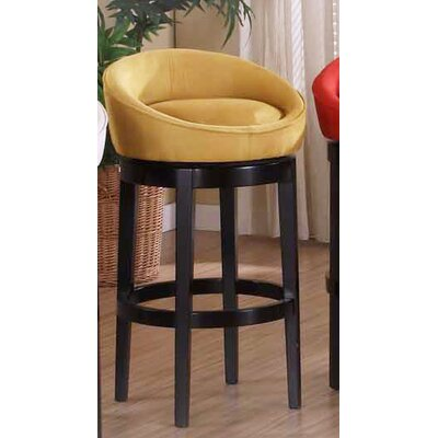 Igloo 30 Swivel Bar Stool Upholstery: Yellow