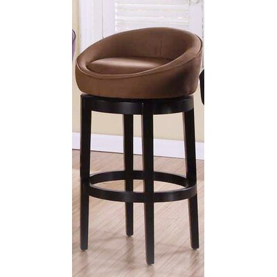 Igloo 30 Swivel Bar Stool Upholstery: Brown