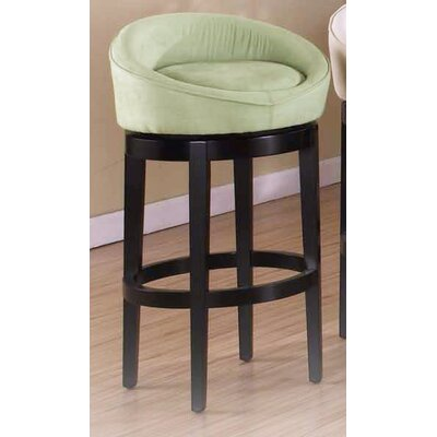 Igloo 30 inch Swivel Bar Stool Upholstery: Green