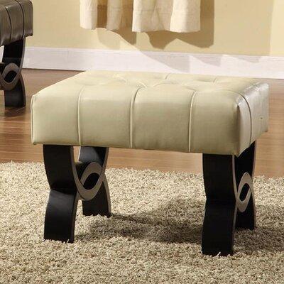 Central Park Ottoman Upholstery: Cream