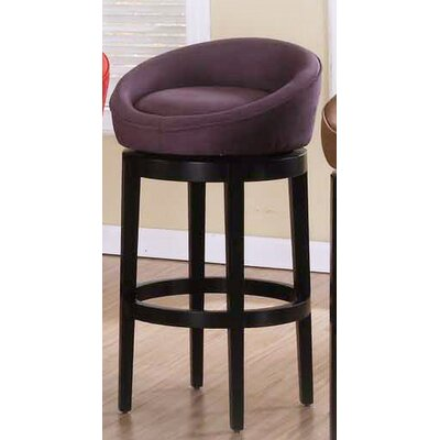Igloo 30 Swivel Bar Stool Upholstery: Eggplant