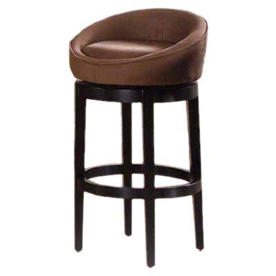 Igloo 26 Swivel Bar Stool Upholstery: Brown