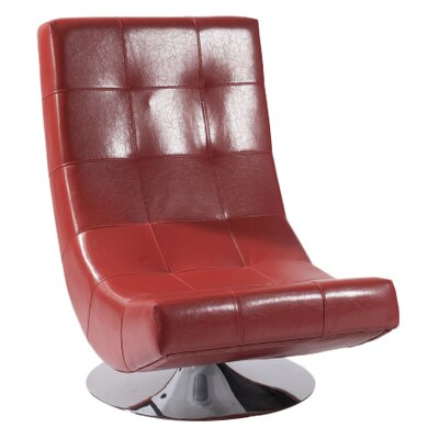 Mario Swivel Lounge Chair Color: Red