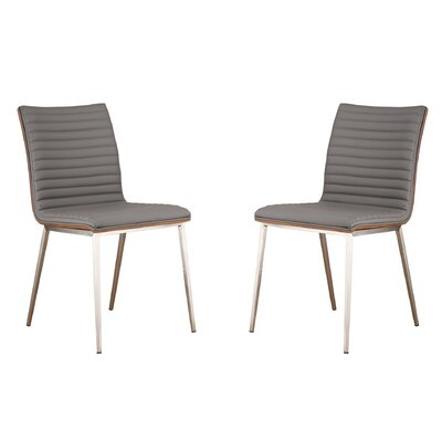 Caf� Side Chair Upholstery: Gray