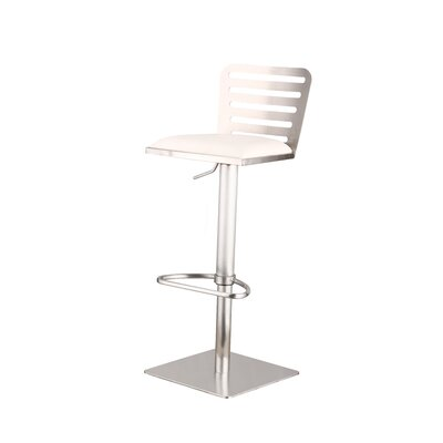 Delmar 21 Swivel Bar Stool Upholstery: White
