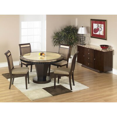 Armen Living Armen Living 5 Piece B993 Round Marble Top Dining Table Set Best Price