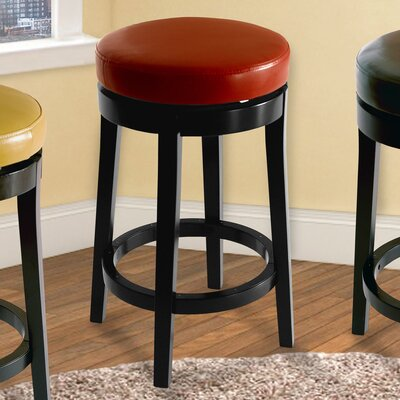 30 Swivel Bar Stool Upholstery: Red