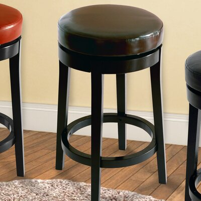 30 Swivel Bar Stool Upholstery: Brown