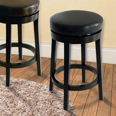 30 Swivel Bar Stool Upholstery: Black