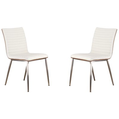Caf� Side Chair Upholstery: White