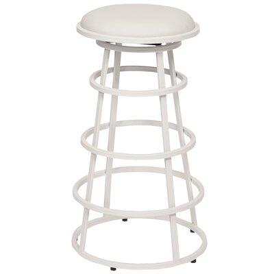 Ringo 30 Bar Stool Upholstery: White, Base Finish: White Painted Metal