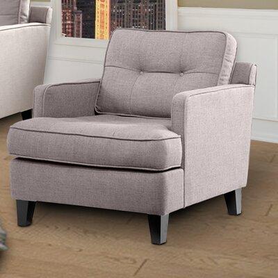 Eden Arm Chair Color: Cement Gray