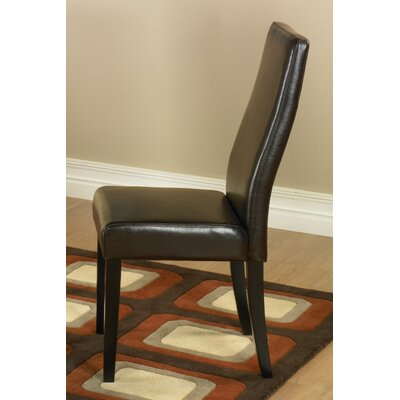 Armen Living Leather Side Chair (Set of 2) Best Price