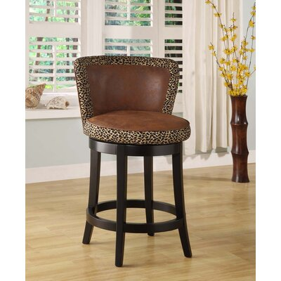 Furniture-Lisbon 26 Swivel Bar Stool with Cushion