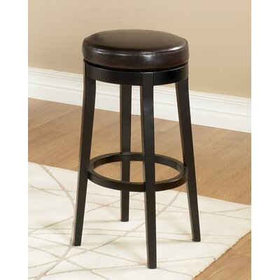 Easy financing Backless Swivel Barstool Size: 26&q...