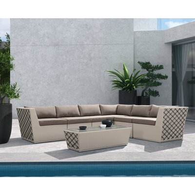 Strachan 7 Piece Lounge Seating Group with Cushion