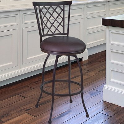 Reno 26 Swivel Bar Stool with Cushion