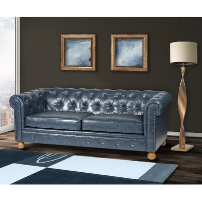 Winston Chesterfield Sofa Upholstery: Blue