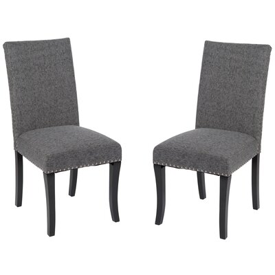 Accent Nail Side Chair Upholstery: Charcoal