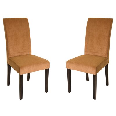 Urbanity Parsons Chair Upholstery: Tobacco