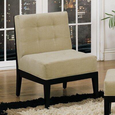 Armen Living Dupont Armless Microfiber Chair - Sofa and Chair Shop