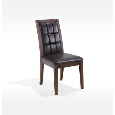 Armen Living Obliq Verona Side Chair in Antique Walnut (Set of 2) Best Price