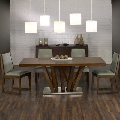 Armen Living Obliq Rectangular Dining Table Best Price