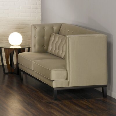 Urbanity Noho Chesterfield Loveseat Upholstery: Satin Champagne