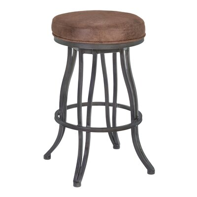 Hilda 26 Swivel Bar Stool Finish: Auburn Bay, Upholstery: Bandero Espresso