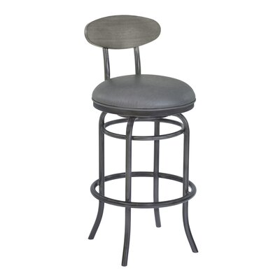 Meggie 26 Swivel Bar Stool Upholstery: Vintage Gray