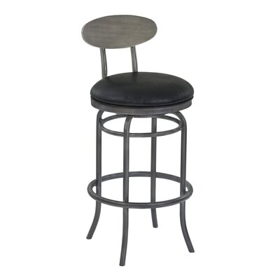 Meggie 30 Swivel Bar Stool Upholstery: Vintage Black