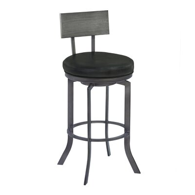 Justina Swivel Bar Stool Finish: Gray Walnut