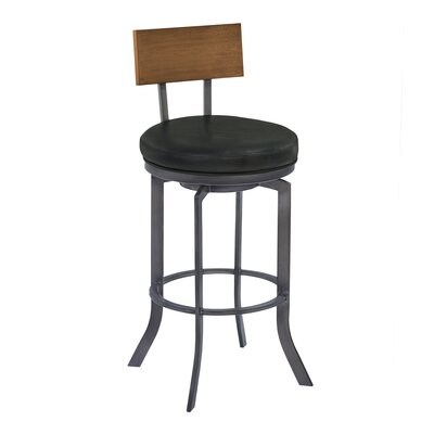 Justina 30 Swivel Bar Stool Finish: Walnut Wood