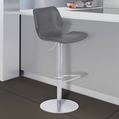 Marlee Adjustable Height 21.26 Swivel Bar Stool
