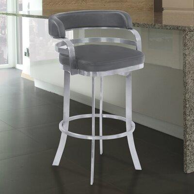 Depaul 30 Swivel Bar Stool Upholstery: Gray