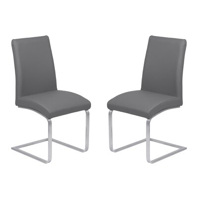 Hammond Contemporary Dining Side Chair Upholstery: Gray