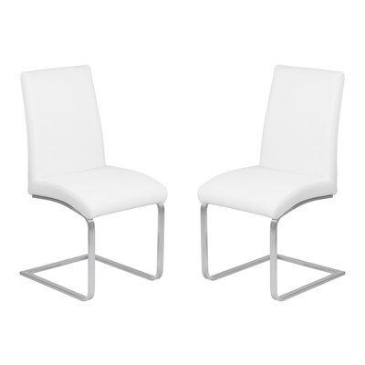 Hammond Contemporary Dining Side Chair Upholstery: White