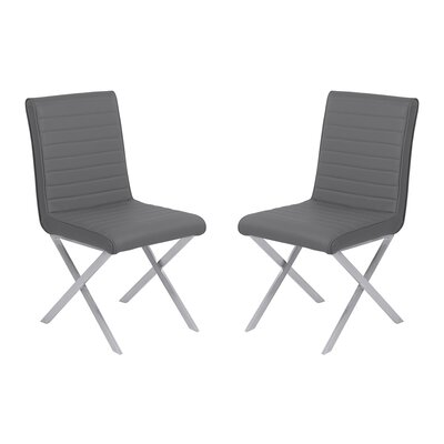 Hawkins Contemporary Dining Side Chair Upholstery: Gray
