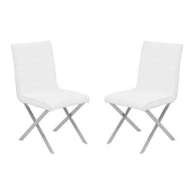 Hawkins Contemporary Dining Side Chair Upholstery: White