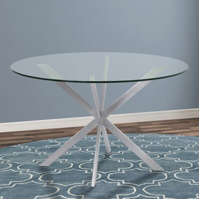 Hale Round Dining Table Top Finish: Clear