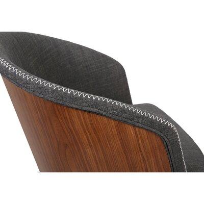 Duxbury Mid-Century Arm Chair Upholstery: Gray