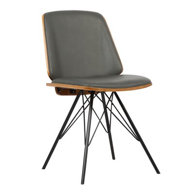Edgartown Mid-Century Side Chair Upholstery: Gray