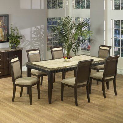 Armen Living Rectangular Marble Top Dining Table Best Price