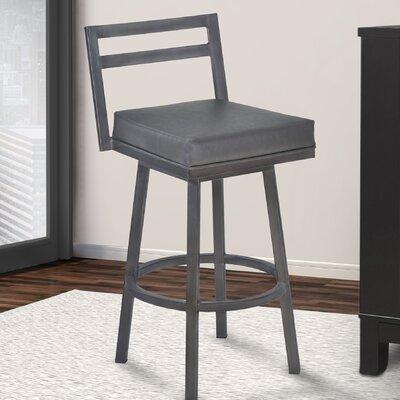 Lexis 26 Swivel Bar Stool Upholstery: Vintage Gray