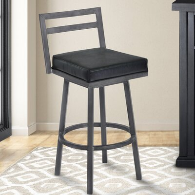 Lexis 30 Swivel Bar Stool Upholstery: Ford Black
