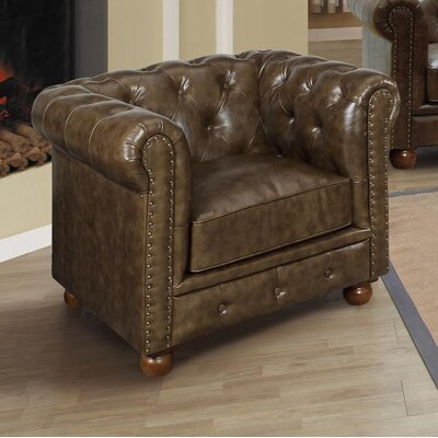 Winston Chesterfield Chair Color: Cocoa