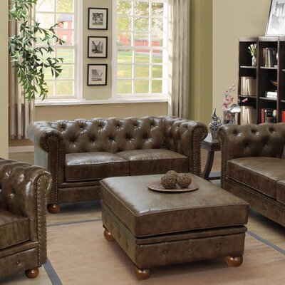 Winston Loveseat Upholstery: Brown