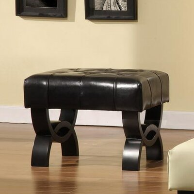 Central Park Ottoman Upholstery: Black