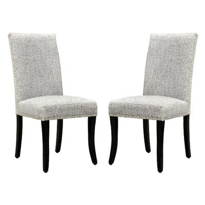 Accent Nail Side Chair Upholstery: Ash