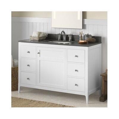 Briella 48 Bathroom Vanity Cabinet Base in White